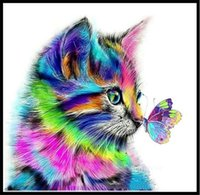 DIY Diamond Painting for Adults and Kids Gifts, Full-Screen Paint-By-Number Art Kits as Home Store or Office Wall Decoration - Cat T2I52866