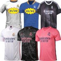 20/21 Real Madrid Hazard Madric Kroos Mens Soccer Jerseys Sergio Ramos Benzema Isco Bale Mariano 2021 2022 الصفحة الرئيسية قميص كرة القدم بأكمام قصيرة