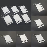 Sublimation Blank Keychain Party Favor MOM DAD LOVE SENIOR G...