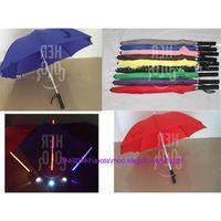 20 teile / los cooler blatt läufer säbel led flash leichte regenschirm rose flasche regenschirm taschenlampe night wanderer