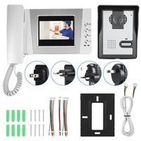 4.3In Colorful Screen Apartment Wired Video Door Phone Audio Visual Intercom Entry System 2021 Fingerprint Access Control
