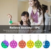 Estados Unidos Colorido Colorido Chaveiro Fidget Brinquedos Reliver Do Partido Reliver Estresse Empurrador It Bolha Antistress Toy Adulto Adulto Sensory Autism Relief para Crianças