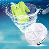 Ultrasonic Turbo Washing Machine Portable Travel Washer Air Bubble And Rotating Mini Washing Machine H0915