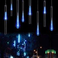 Çok renkli 30 cm Meteor Duş Yağmur Tüpleri Dizeleri AC100-240 V LED Noel Işıkları Düğün Parti Bahçe Noel Dize Işık Açık