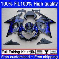 Motorcycle Bodywork For SUZUKI Blue flames GSXR 1000CC 1000 CC 2000 2001 2002 Body 24No.88 GSXR-1000 GSX-R1000 00-02 GSXR1000 K2 00 01 02 OEM Injection Mold Fairing