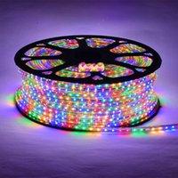Tiras LED 100meter multicolor 4Plug 3014 tira 120led / metro Christmas AC220V IP66 À Prova D 'Água Outdoor Jardim Luz branca / quente