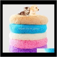 Kennels Pens Supplies Home Garden Drop Delivery 2021 Round Bed Nest Washable Pet House Dog Breathable Lounger Sofa Deep Sleep Cat Litter Kenn