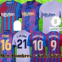 21 22 Fotbollströjor Camiseta Futbol Red Blue Kit Jersey 2021 2022 Maillots de Fotbollskjorta Män Kids Kits Utrustning