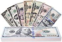 영화 소품 지폐 플레이 돈 실제 소품 돈 달러 $ 100 가짜 달러 지폐 USD 시네마 소품 소품 스택