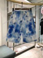21SS Mens Donne Designer Pantaloncini Pantaloni Pastello Stripe Stampa Primavera Estate Uomini Testi Pantaloni Pantaloni Casual Lettera Pantaloni Nero Nero Bianco Giallo