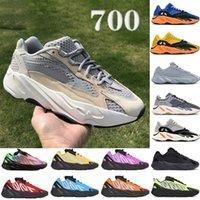 جديد 700 V1 V2 MNVN حذاء ركض رجالي صن التعادل صبغ الكربون الأزرق الأصفر الثلاثي الأسود عاكس الرجال النساء أحذية رياضية