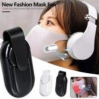 Cool Portable Mini Mask Fan Air Purifiers Filter USB Rechargeable Clip-On Exhaust Fans For Face Masks Japan Korea Sale