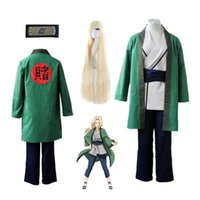 Anime cosplay New Hot Tsunade Cosplay costume Halloween Green kimono with wigs comic cosplay G0913