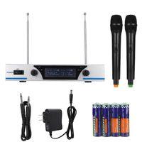 Microfono wireless V3 110 V Altoparlante manuale Karaoke MIC Microfoni portatili USCON