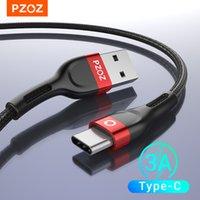 PZOZ USB C 케이블 유형 C 케이블 빠른 충전 데이터 코드 충전기 USB 케이블 C 용 C10 S9 A51 Xiaomi Mi 10 Redmi Note 9S 8T