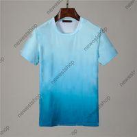 21 ss luxus klassischer großer Brief druck tshirts sommer mens designer kurze hülse t shirts steigung farbe t-shirt womens casual tshirt