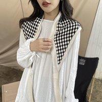 Bow Ties Sitonjwly 2021 Fashion Pure Color Detachable Collar Lapel Choker Necklace Shirt Fake False Shawl Vest Accessories
