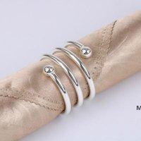 Metall-Frühling Servietten-Ringe für Tischküche Serviette-Halter Hochzeit Bankett-Abendessen Weihnachtsdekor Gunst DHD6179