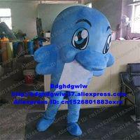 Mascote trajes azul golfinho pateta delphinids baleia mascote traje adulto personagem de desenho animado roupa terno as mercadorias mais escolhidas graças vai zx2