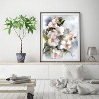 Pinturas Almendra Flores Arte Impresión, Árbol Floral Floral Acuarela Pintura, Flores Botanical Wall Giclée Fine Print