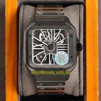 Вечность Часы V3 Обновление Версия RRF 0015 Horloge Скелет 2020052 Швейцарская Ronda 4S20 Кварцевые часы Часы Черный Сталь Корпус Быстрая разборка Браслет Супер издание