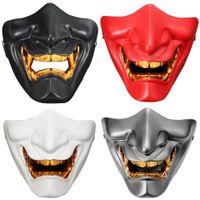 New K Mask Game Half Face Airsoft Oni Maschera Halloween Cosplay Evil Demone Kabuki Samurai Hannya Prajna Resina