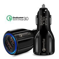 Quick Charge 3.0 Dual USB Car Charger 5V3A Turbo Fast Car Charging Mobile Phone Charger For iPhone Xiaomi Car Adapter