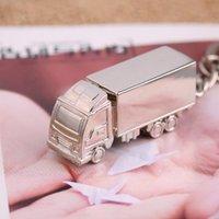 Keychains 1pc KeyRing mignon de style européen de style métal forme de camion de camion de haute qualité alliage de zinc en alliage polie jolie keychain en tant que cadeau