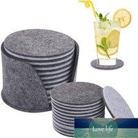 10 шт. 10см круглый фетровый горшок кухонный обеденный стол защитный прокладки термостойкая чашка коврик серый кофе чай горячий напиток кружка