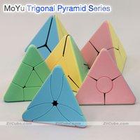 Moyu Magic Tower Trigonal Mágica Pirâmide Cubo Série Bead Canto Torção Vento Bumerang Triângulo Bordo Folha Torção Toys Toys