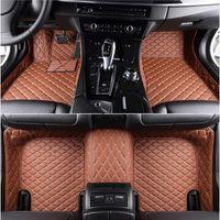 Tapis de sol en cuir pour Alfa Romeo Stelvio Custom Custom Pieds Pieds automobiles Accessoires de voiture HT HT HT HT