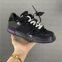 Queridos Dunks Summer Dunks Zapatos deportivos bajos OFF Black Purple Blanco Lienzo de cuero Mezcla 50 de 50 Spail Neutral Gris Lot 1 Zapatillas de deporte al aire libre