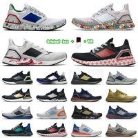 [مربع الأصلي + الجوارب + Tag] UB6.0 الأحذية الفشار الحقيقي الحذاء الأسود والأبيض الحرباء الأرجواني التدرج كتابات الترا دفعة الترا دفعة 20 كونسورتيوم الأزرق المعدني الأحذية الرياضية