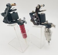 New Style Tattoo Machine Gun Handmade Cast Iron 8Coils Liner Shader With Red Aluminium Alloy and Stainless Steel Grip Tube For Tattooage Kits Equipment No Holder tm08