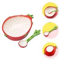Insalata di ciotola di ceramica del disegno della frutta del drago adorabile del drago con ciotole del cucchiaio