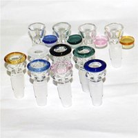 2 in 1 Glass Slides Bowl Pieces Bongs Bowls Funnel Rig Smoking Accessories 14mm&18mm Male Heady Water pipes dab rigs Bong Slide