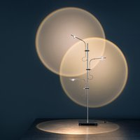 Minimalist creative LED light and shadow floor lamp living room sofa Italian art projection sunset