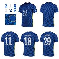 CFC Pulisic 21 22 Ana Sayfa Futbol Formaları Werner, Giroud, Havertz Hayranları Erkekler Futbol Gömlek (Akın Seçimi) (Şampiyonlar Ligi Yazı Tipi)
