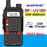 Baofeng 2021 profissional walkie talkie uv 10r 30km 128 canais vhf uhf banda dual duas vias cb ham rádio uv-10r plus