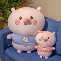 35-65cm Squishy Piggy Piggy Porch Pier Pouche Poubelle Bleu / Rose Coussin en peluche Beauté Soft Squishy Animal Toy Kids / Girl Anniversaire Cadeau d'anniversaire