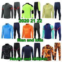 2021 22 uomini e bambini Jogging Football Football Training Tuta Kit Kit Ragazzi Giacca da uomo Surversement Foot Soccer Chandal Futbol Chándal Abbigliamento sportivo
