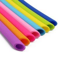 Красочные пищевые сорт гибкие силиконовые соломинки прямые изогнутые изогнутые соломинки питьевой съемки инструменты напитки