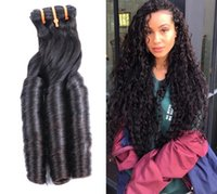 Fumi spring curly double drawn superior quality hair