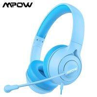 MPOW LH1 KIDSヘッドフォン付きマイクロフォン有線ヘッドフォンStereo Sound94DBボリュームリミット3.5mmオンライン学習ヘッドセット