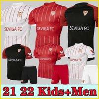 21 22 Sevilla FC Soccer Jersey Papu Gomez I.rakitic L.OCAMPOS DE JONG J.NAVAS SUSO MUNIR Y.ES-NESYRI 2021 2022 Hombres + Kits Kits Camisetas de fútbol