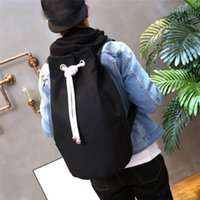 Backpack Drawstring Packback Bags Men Casual Sports Pouch Pull Rope Canvas Gym