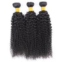 Paquetes de pelo rizado Kinky Tejido Suave 26 28 30 pulgadas Virgen Malasia se puede teñir gratis