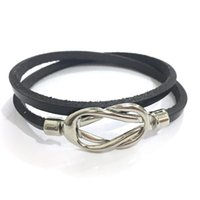 Magnetic Buckle Knot Women's Leather Bracelet Jewelry Handmade Multi-layer Ladies Braclet Lovers' Gift Charm Bracelets