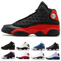 Mann Basketballschuhe Sneaker 13 Captain Black Cat Hyper Royal Olive Weizen GS Bordeaux DMP Chicago 13s Sport Trainer Schuhe