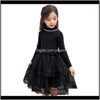 Baby Clothing Baby, & Maternitygirls Knitted Lace Flower Sweater Dresses Girl Autumn Winter Dress Kids Teenage Costume For Girls 6 8 10 12 14